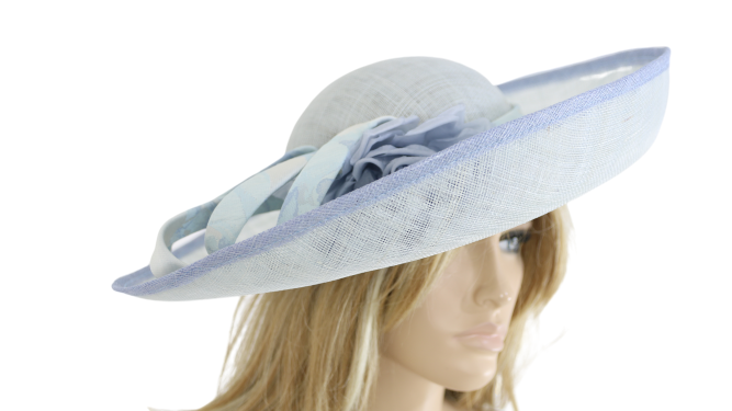 John Charles London 26539 Ice Blue Mother Of the Bride Causal Wedding Formal Hat