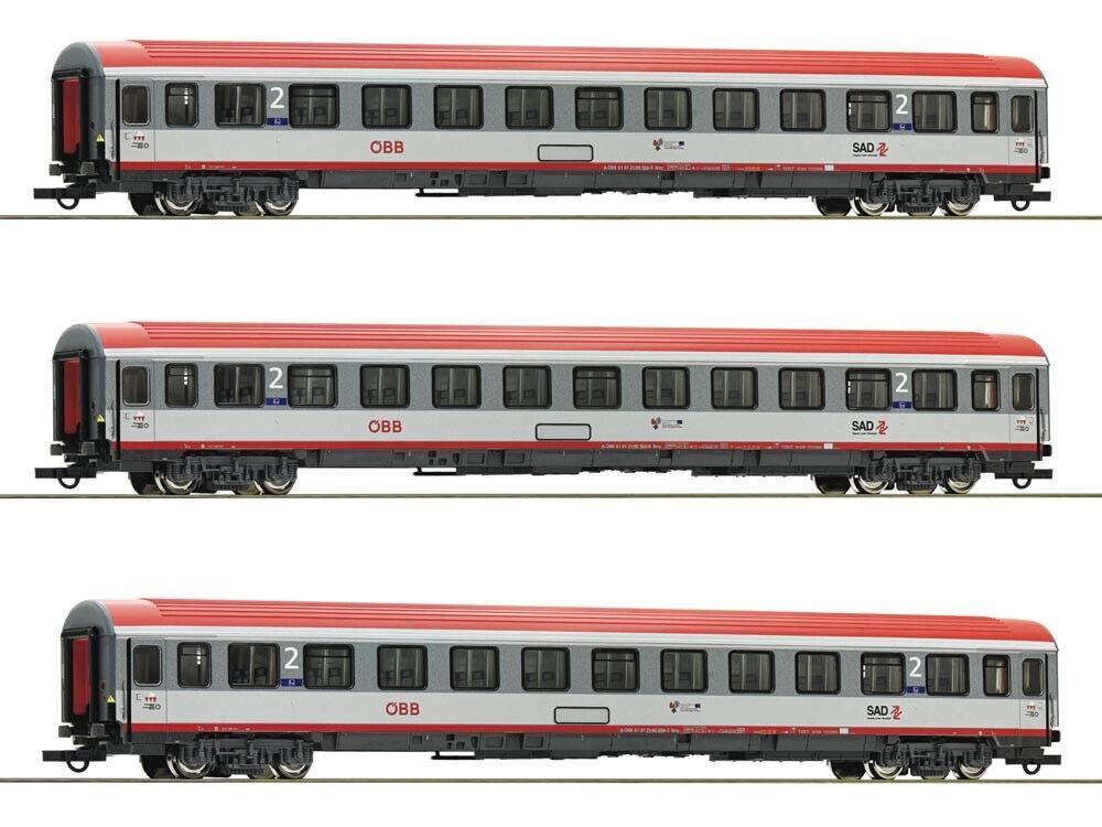 Roco 74132 personenwagenset regional Express Innsbruck-Bolzano ÖBB 3x h0