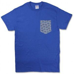 NEW-DESCENDENTS-Front-Pocket-Milo-Pattern-Punk-Rock-Band-Shirt-Men-039-s-Tee-Blue