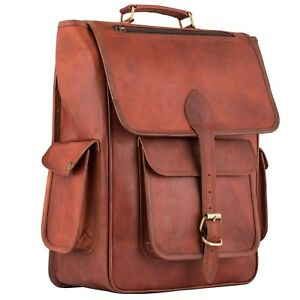 Vintage-Leather-Backpack-Bag-17-Inch-Laptop-Rucksack-Travel-Daypack-Shoulder-Bag