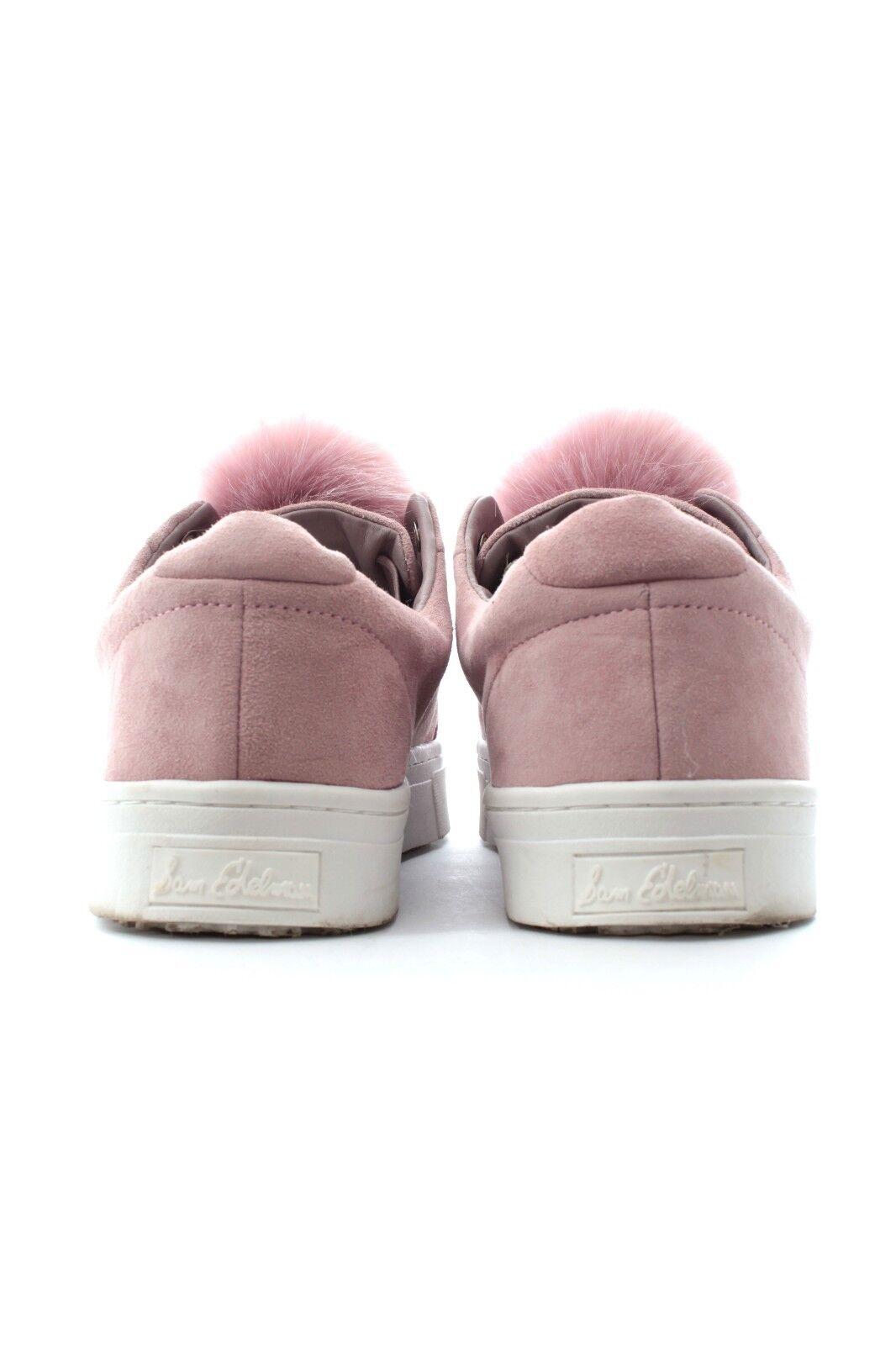 Sam Edelman Leya Faux Fur-Trimmed Sneakers   Pink       85b7a2