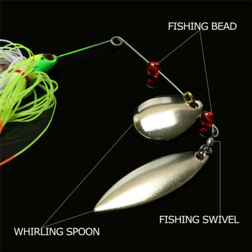 5pcs//lot Double Blade Fishing Lures Spinnerbait Buzzbait Spinner Bait Bass Trout