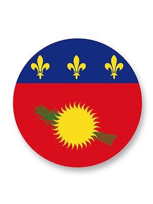 Magnet Aimant Frigo Ø38mm Drapeau Flag Guadeloupe Pointe à Pitre France