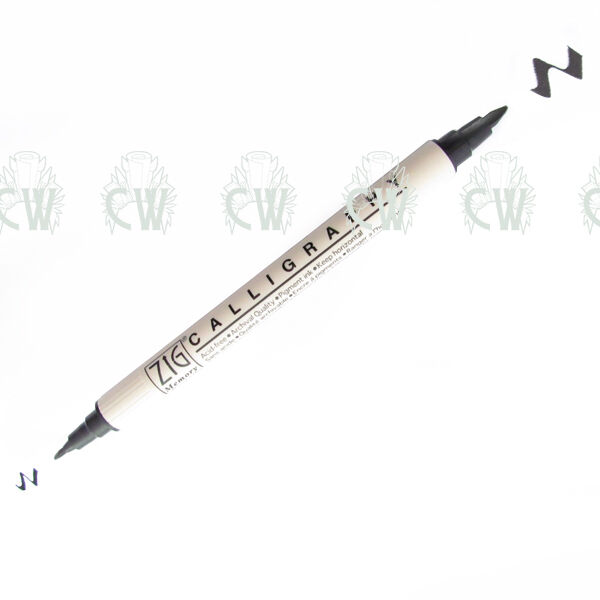 BLACK Zig Memory System Double Ended Calligraphy Pen. Artists Pen.