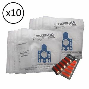 10 Sacchetti x /& Deodoranti Per Sebo X4 EXTRA X1 X1.1 per aspirapolvere Hoover
