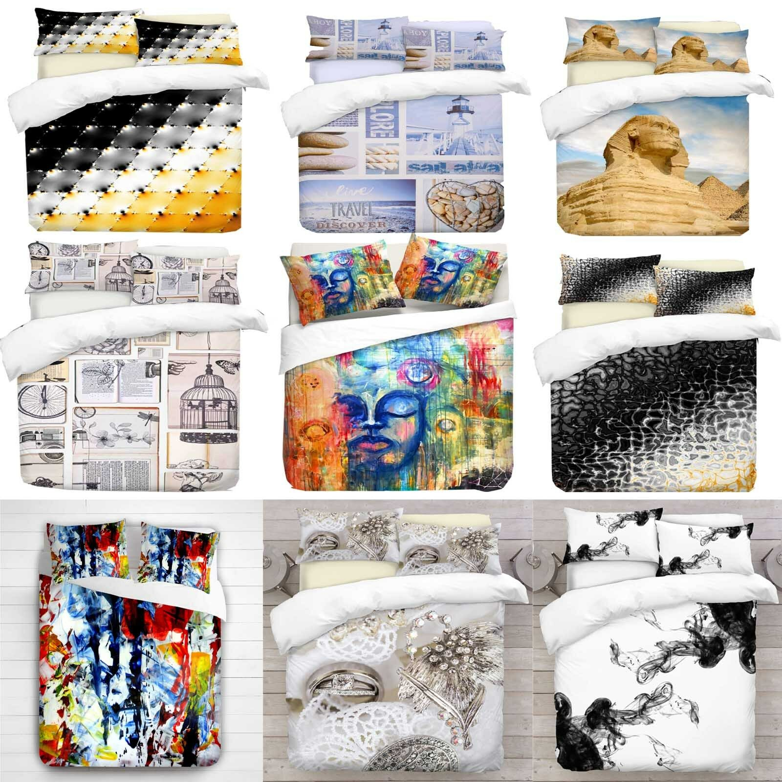 3D Different Designs Photo Print Duvet Quilt Cover With Pillowcases