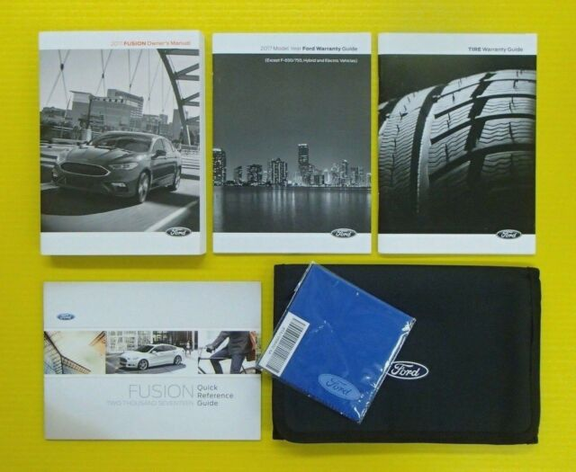 ford fusion owners manual 2017