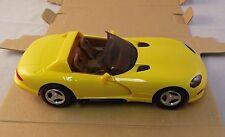 7155  AMT Ertl Dealer Promo Car 1994 Dodge Viper RT/10 - Yellow - 1/25 scale