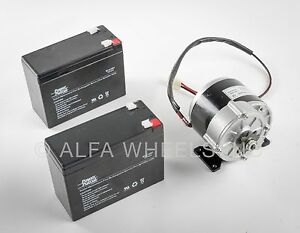 """250 W 24 V electric brush motor f bicycle ebike gear reduction #410 1//2/"""" gear"""
