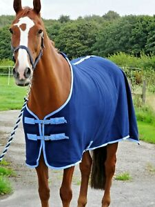 NEW-Stunning-Navy-show-cover-travel-fleece-cooler-stable-horse-rugs-5-039-3-6-039-9-034