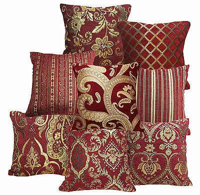 Damask Checker Stripe Flower Match Color Cotton Blend Cushion Cover/Pillow Case