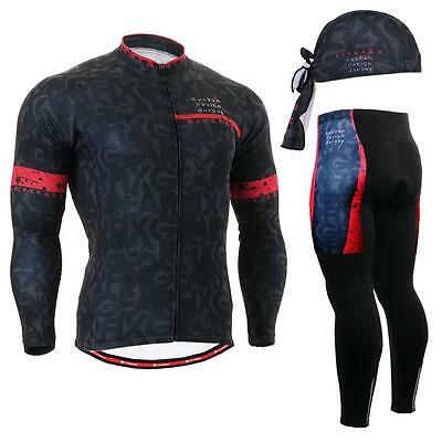 FIXGEAR CS-g601 SET Cycling Jersey & Padded Pants,MTB Bike,BMX,Beanie Free GIFT