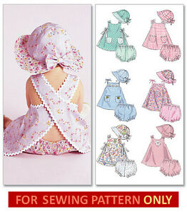Sewing Pattern Make Baby Dress Panties Hat Summer Clothes Size
