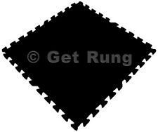 New 54 Tiles 216 Sq Ft Interlocking EVA Foam Mat Flooring Gym Playground Black