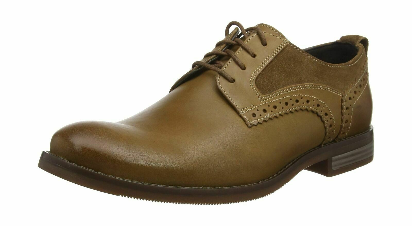 Rockport Wynstin plain toe size 15.5 UK men's leather & suede lace up NEW Gauged