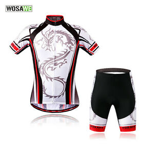 Mens-Road-Bike-Cycling-Jersey-Shorts-Set-Team-Clothing-Short-Sleeve-Outfits-Suit