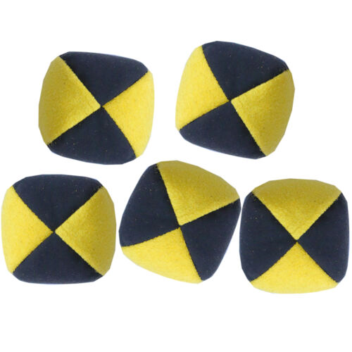 Faux Suede Quality Pro Thuds Yellow// Black Set of 5 Moleskin Juggling Balls