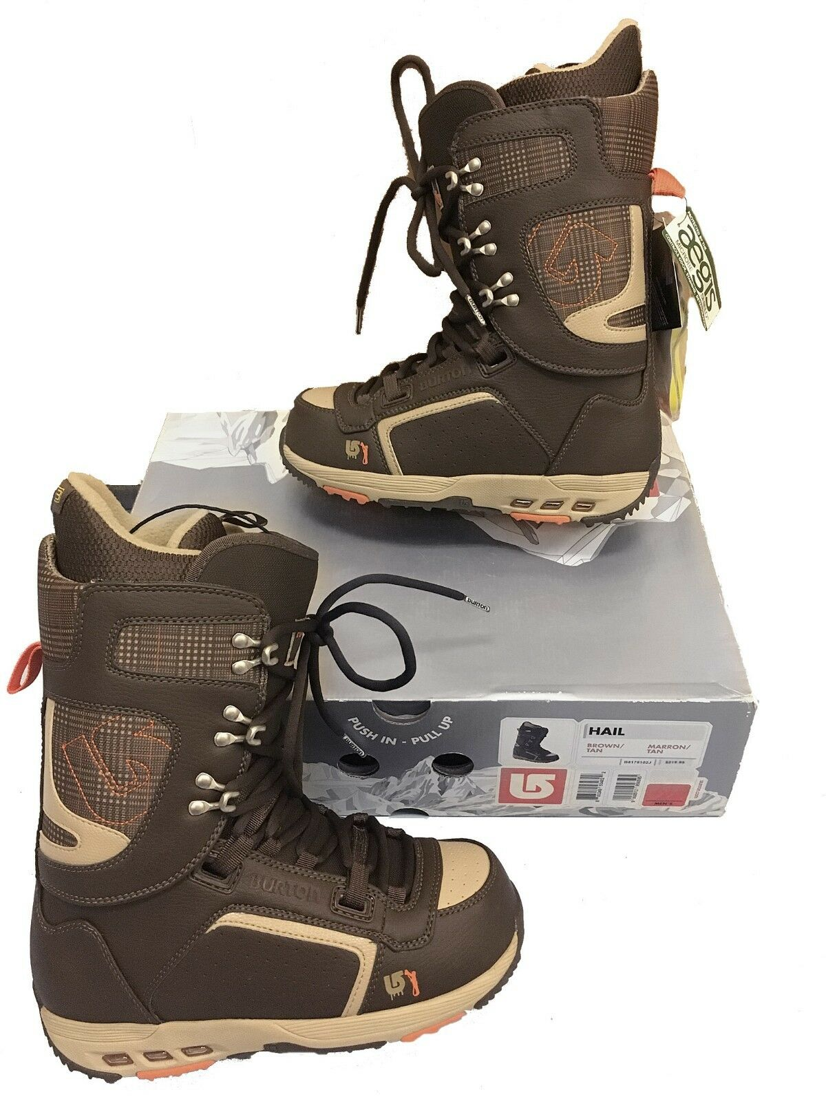NEW Burton Hail Snowboard Boots   US 6, Mondo 24, Euro 38  BROWN