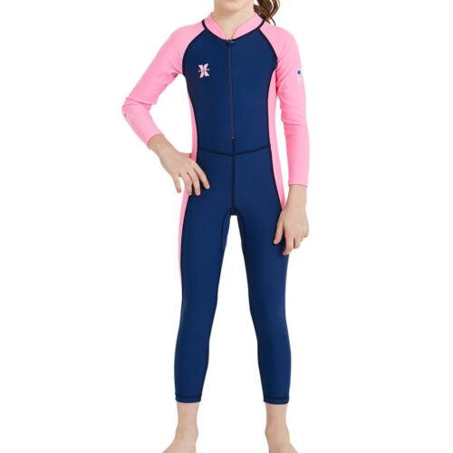 Baby Boy Girls Long Sleeve Swimsuit One Piece Surfing Suit Beach Swimwear