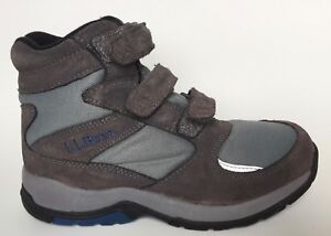 L-L-Bean-Hiking-Ankle-Boots-Womens-8-M-Gray-Suede-Hook-amp-Loop-3-Strap