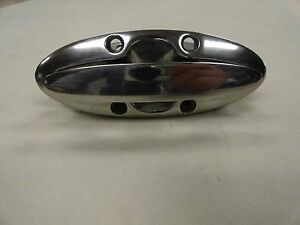 "ATTWOOD STAINLESS STEEL FLUSH MOUNT CLEAT 5 5/16"" X 2"" MARINE BOAT"