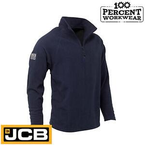 JCB-Essential-Mens-Navy-Blue-Micro-Fleece-1-4-Zip-Jacket-Mid-Layer-Warm-Work-New