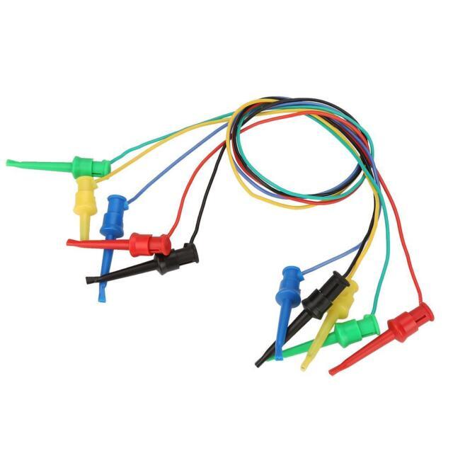 5Pcs//set Colorful Multimeter Electrical Test Dual SMD IC Lead Test Clip Hook LJ