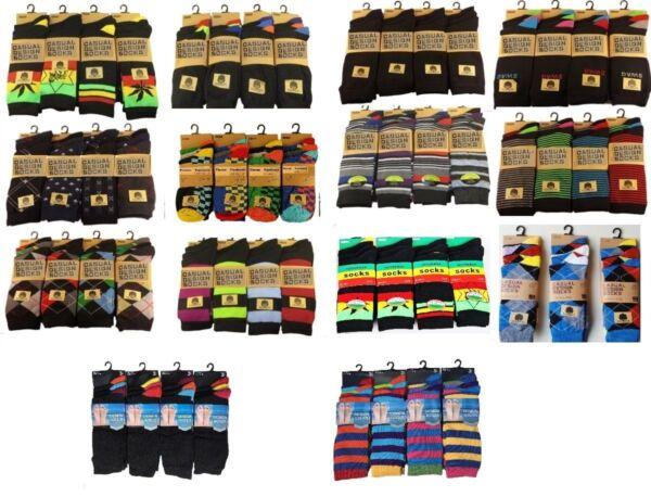 12 Pares De Calcetines Para Hombre De Diseñador Algodón Rich Calcetines De Diseño De Lycra Tamaño 6-11 Regalo Calcetines-ver Precio De Venta