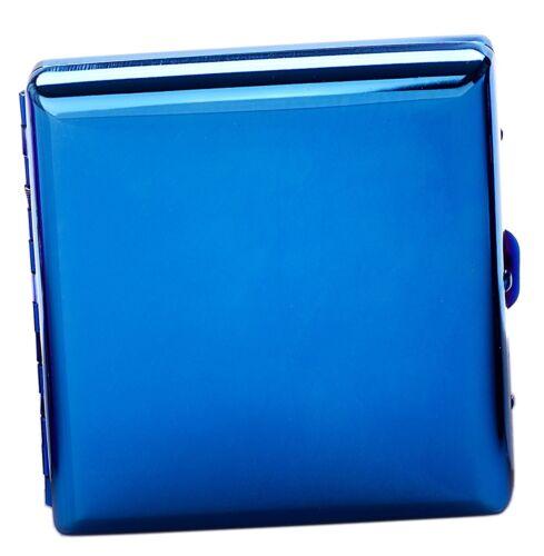 SAPPHIRE BLUE glänzendes 20er Zigarettenetui RAINBOW by CHAMP neu