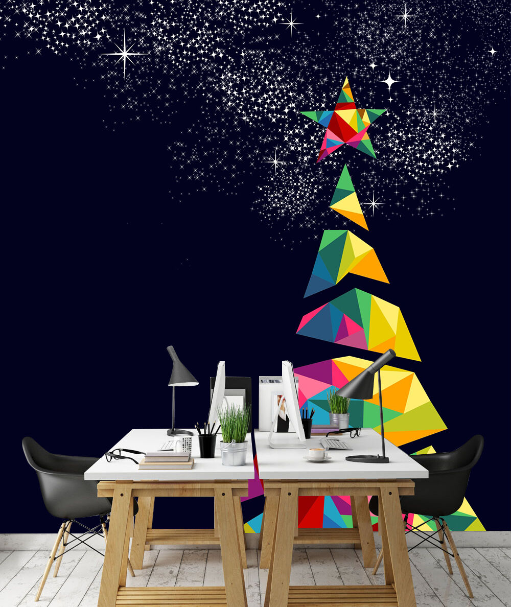 3D Christmas Eve Star 22 Wall Paper Wall Print Print Print Decal Wall Deco Indoor Wall 20f1ab