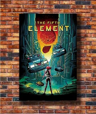 T1408 24x36 Silk Poster Luc Besson Bruce Willis The Fifth Element Decor Movie