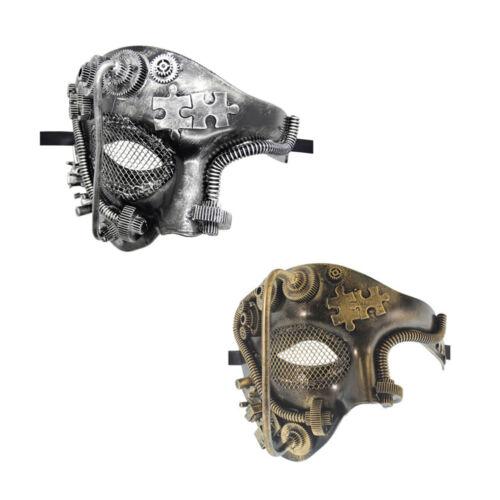 Male Steampunk Phantom Half Face Masquerade Mask Prom Party Venetian Mens Mask