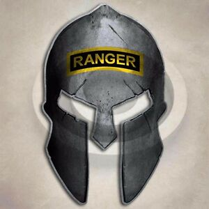 Army Ranger Spartan Helmet Sticker Military Special Forces