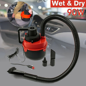 12V-Car-Interior-Wet-Dry-Vacuum-Cleaner-Inflator-Portable-Turbo-Hand-Held-RED