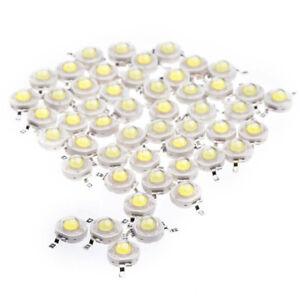50PZ-1W-Diodo-Bianco-Freddo-Ad-Alta-Potenza-Perline-Led-1-Watt-Chip-Lampada-K1B2