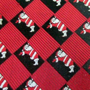 Van Heusen Tie Christmas Silk Necktie Santa Red White Black