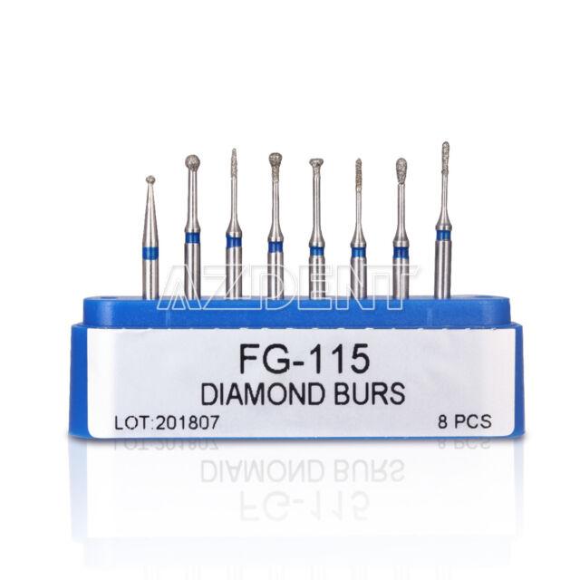 Dental FG-115 Diamond Burs Minimally Invasive Cavity Preparation AZDENT 8Pcs