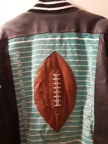 Michael Hoban Leather Jacket Vintage Football Pri… - image 1