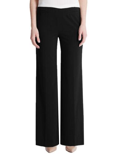 235 Ex Marks and Spencer Wide Leg Front Pocket Side Zip Trousers Black