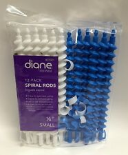 """Diane by Fromm Spiral Rods 12-Pack 1/4"""" Small Blue and White DSR1 (SHIPS FREE)"""
