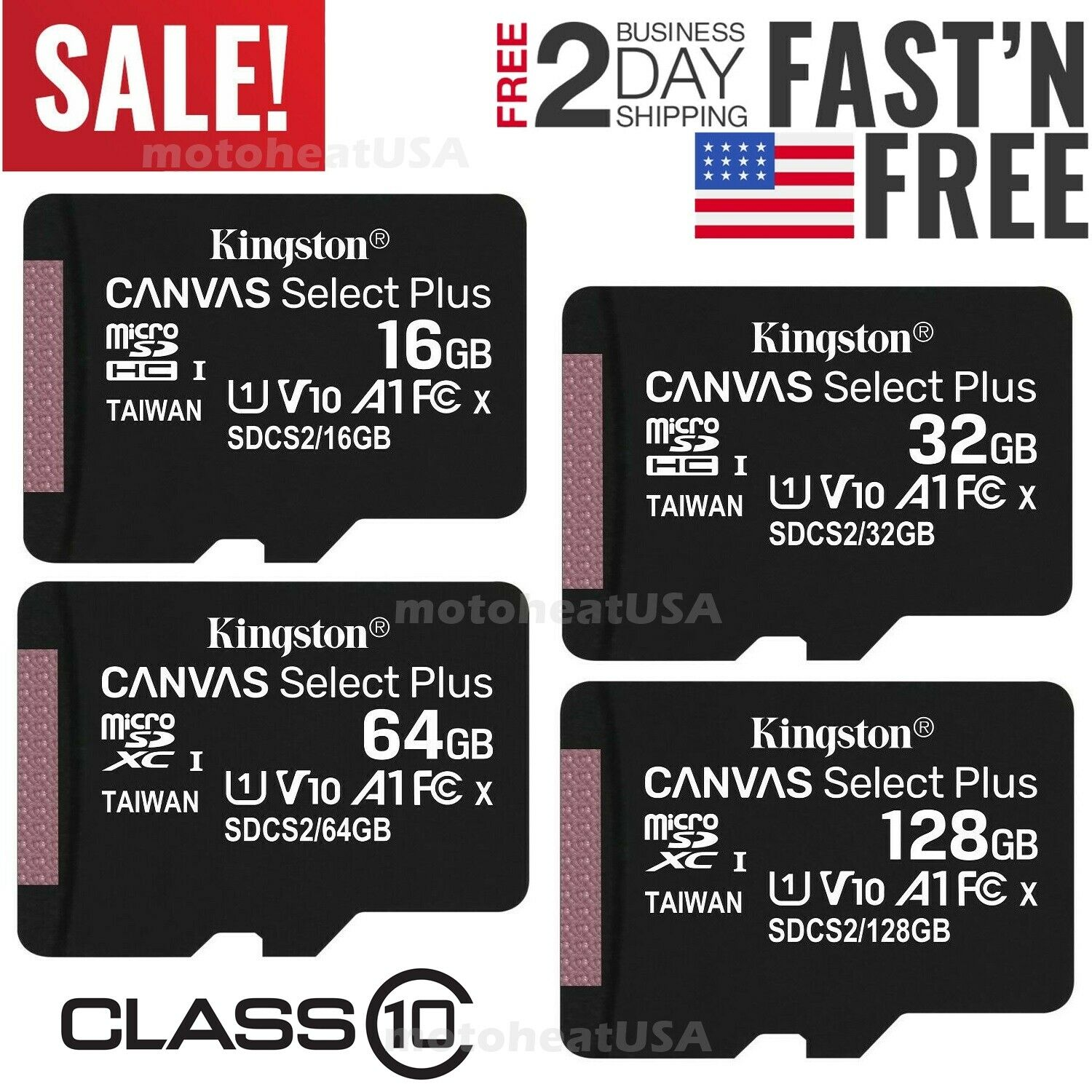SanDisk 128GB Ultra UHS-I Class 10 U1 SDXC Memory Card 100MB//s Read and 10MB//s Write Speed
