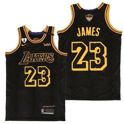 lebron james black finals jersey