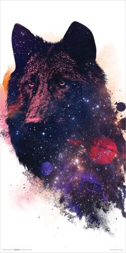 30,5x61cm Robert Farkas Kleinformatige Galaxy Poster Wolf Universe Kunstdruck