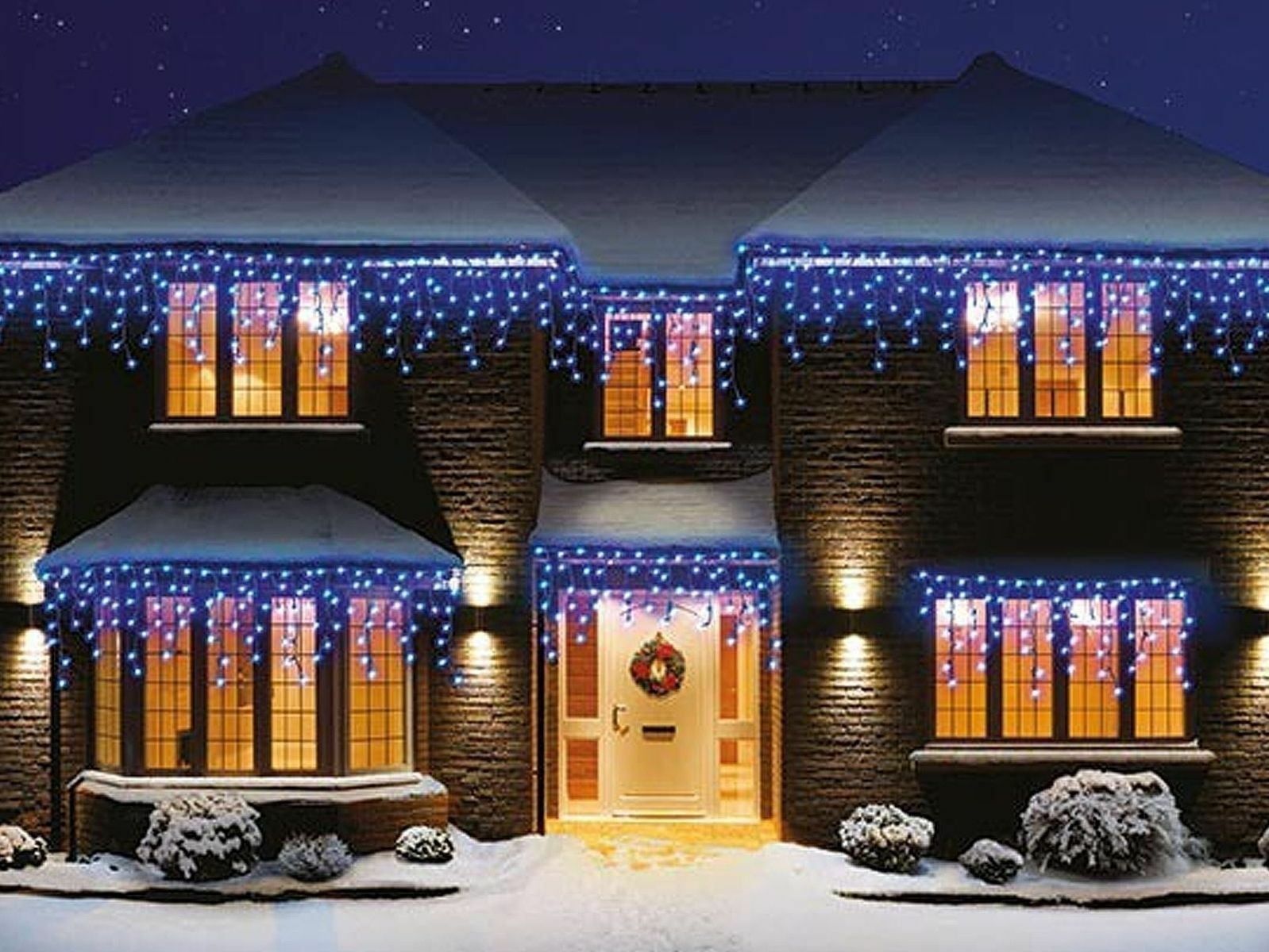 960 Christmas LED Snowing Icicle Lights Bright Weiß Blau Xmas  Indoor Outdoor