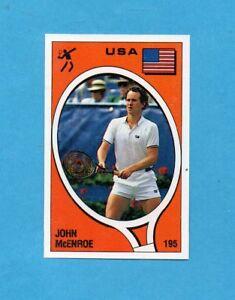 SUPERSPORT-1988-PANINI-88-Figurina-n-195-McENROE-USA-TENNIS-Rec