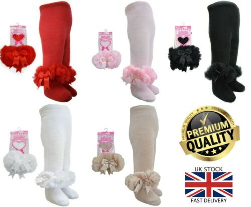 New Soft Touch Girls Frilly Spanish Romany Organza Lace Satin Bow Tutu Tights
