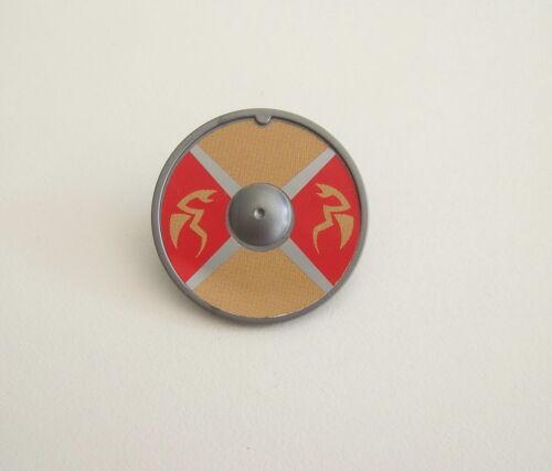 PLAYMOBIL Bouclier Rond Beige  /& Rouge Dragons de Mer VIKINGS M119