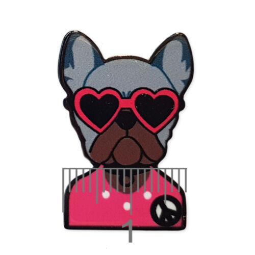 Funky perros Acrílico Flatback Cabujones Adorno Decoden Craft 6 un