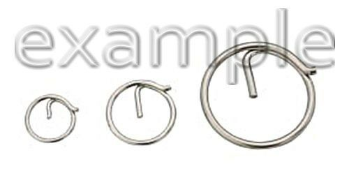Ring Pins Stainless Steel AISI 316 1.4401 1.25 x 22mm X10 pcs