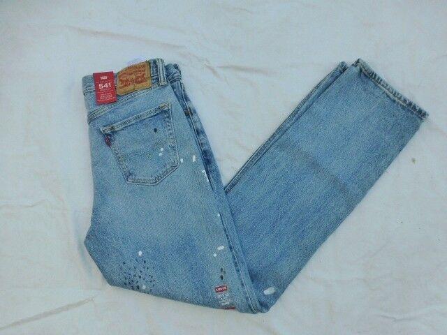 6674895e3d4 Mens Levis 541 Athletic Fit Blue Jeans Paint Splatter Size 40 X 34 for sale  online | eBay